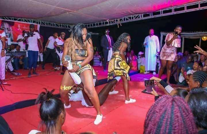Akothee during a performance