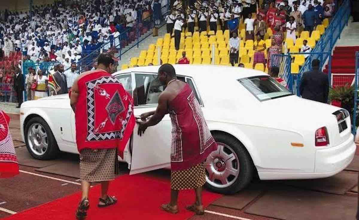 King Mswati car