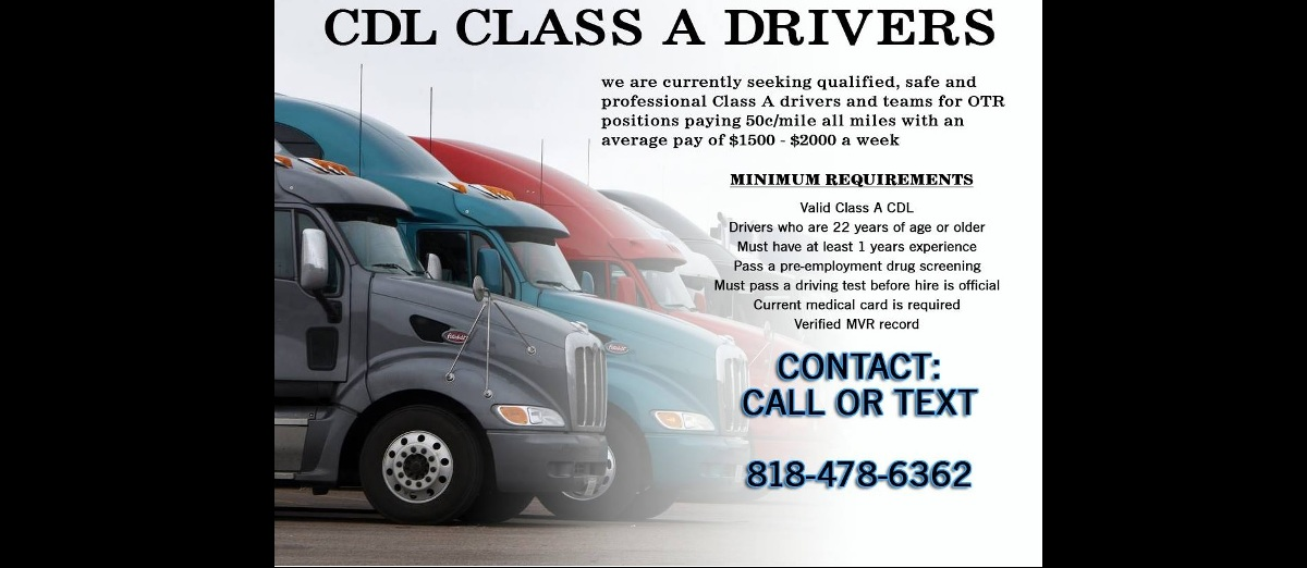 CDL Drivers Wanted