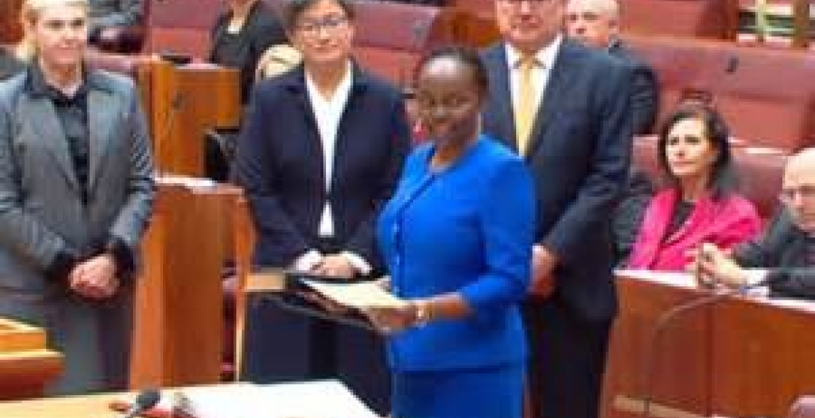 Jubilation in Nyeri Village as Native is Sworn in as Senator in Australia