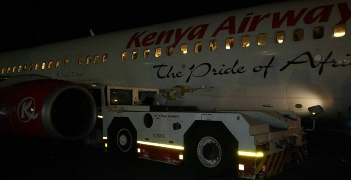 Sh10 Billion Kenya Airways Aircraft Grounded after JKIA Accident