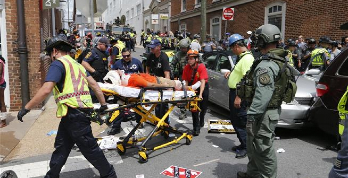 1 Dead, 19 Injured As Car Ploughs into Anti-White Supremacist Protesters  in Charlottesville, Virginia
