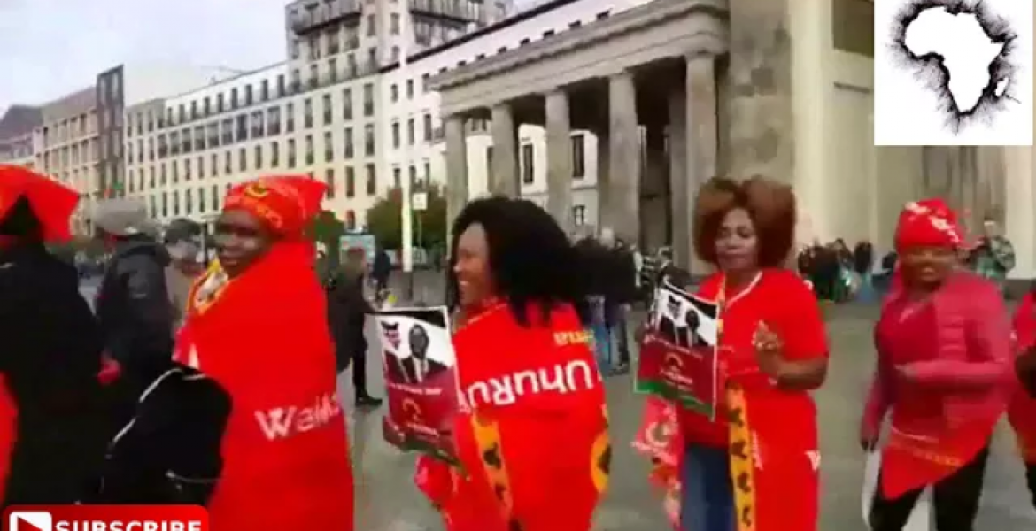 Jubilee Supporters Demonstrate Outside Chatham House in London [VIDEO]
