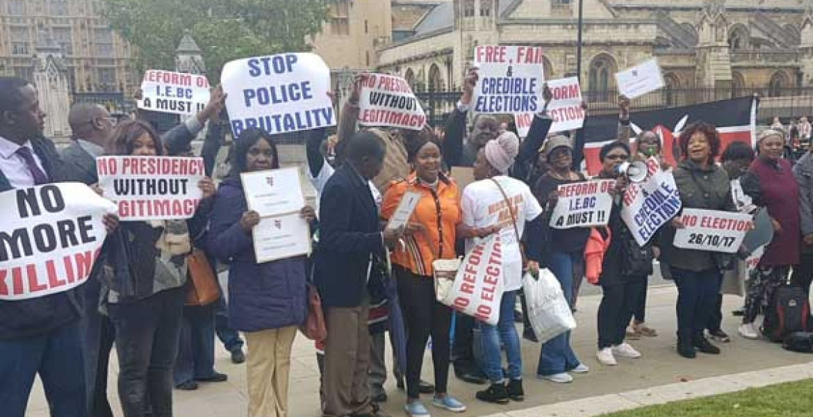 President Uhuru, Raila Supporters Drag their Rivalry to the Streets of London