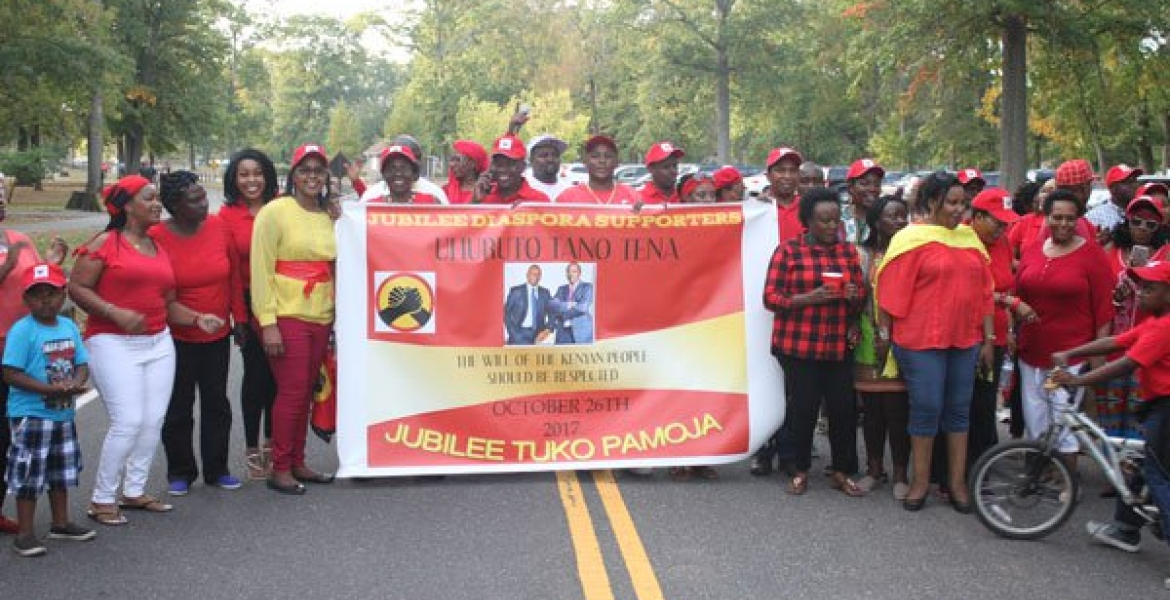 President Uhuru Supporters in the US Hold Demonstration in New Jersey