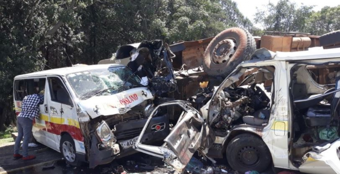 20 Feared Dead in a Multiple Car Accident at Sachangwan Blackspot in Nakuru