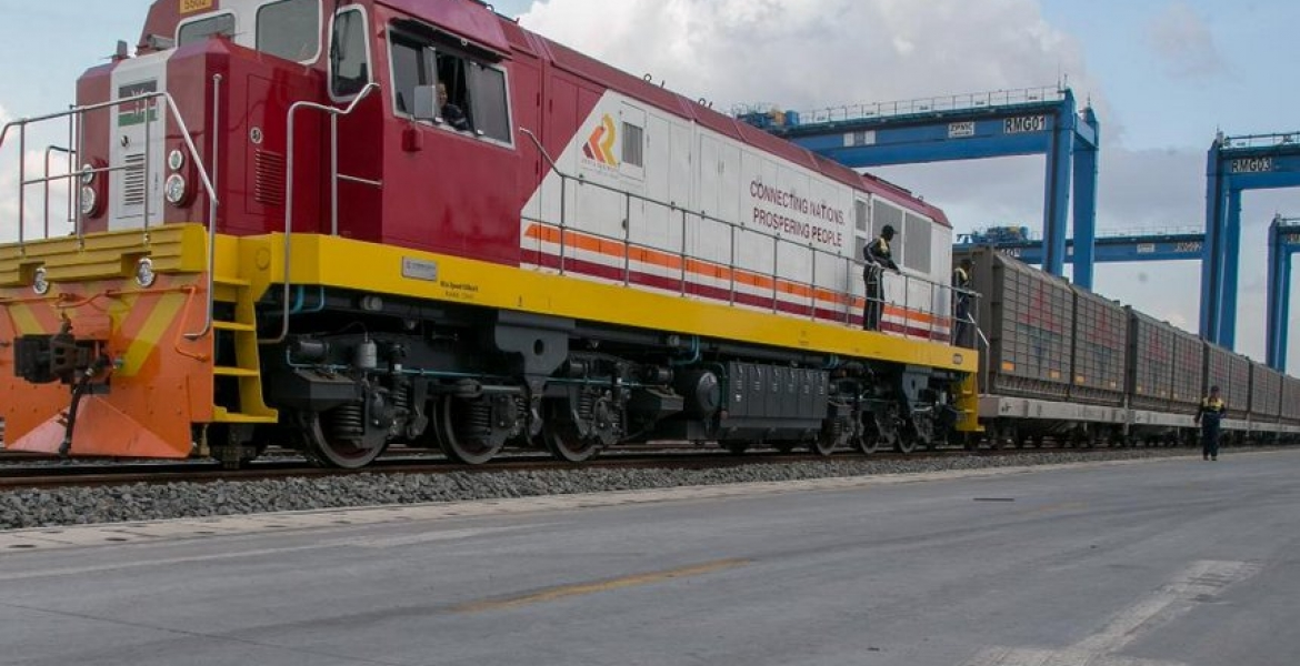 Inaugural SGR Cargo Train Ferries 104 Containers from Mombasa to Nairobi