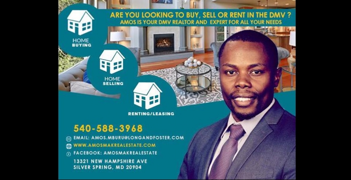 Looking to Buy, Sell or Rent in the DMV? Amos is Your DMV Realtor and Expert