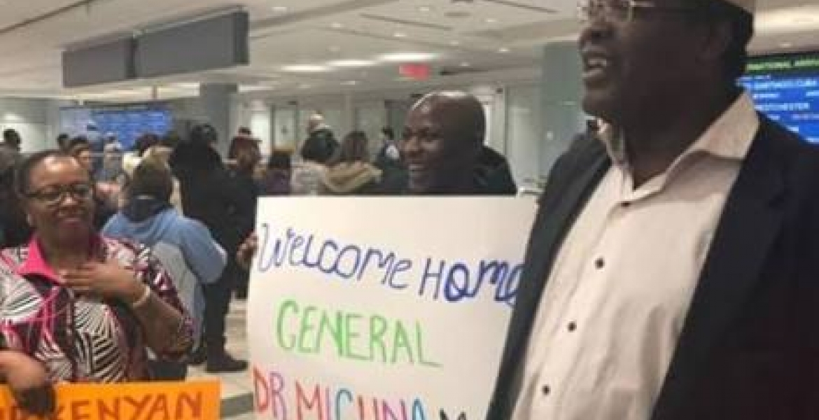 Miguna Treated to a 'Grand' Reception by Kenyans in Canada [VIDEO]