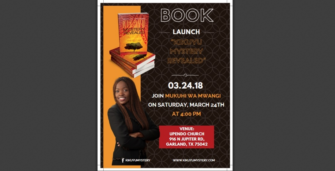 """Kikuyu Mystery Revealed"" Book Launch: Sat, March 24th in Dallas, Texas"