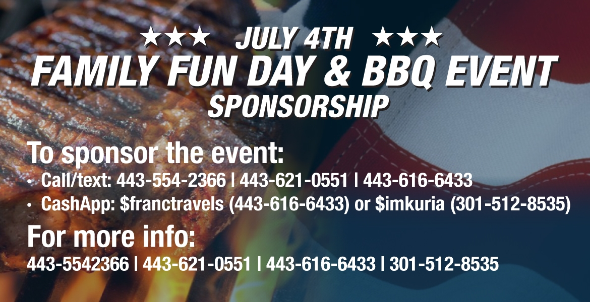 July 4th Family Fun Day & BBQ Event Sponsorship