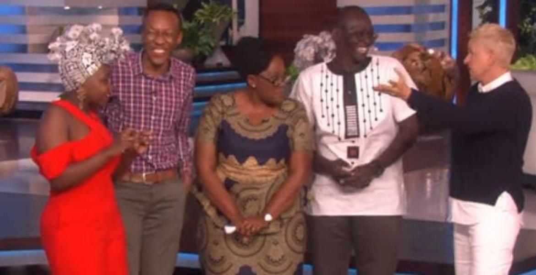 Reunited Kenyan Family Wins $50,000 on US Comedian Ellen Degeneres TV Show [VIDEO]