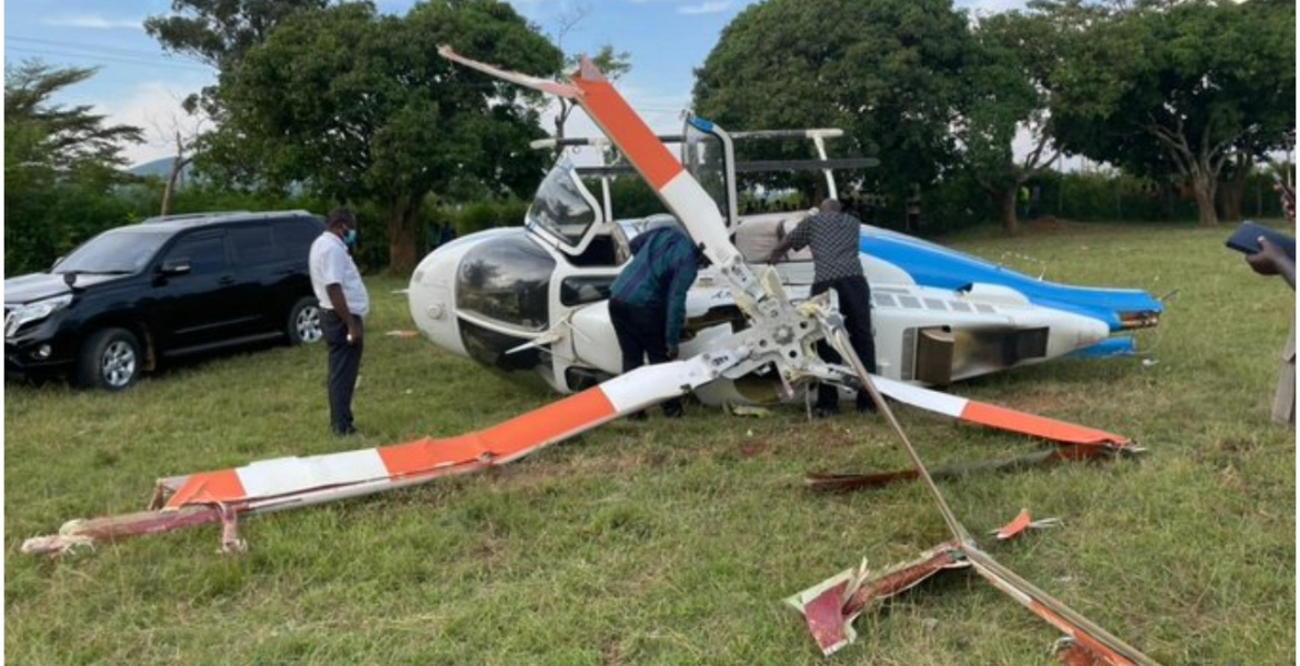 4 Injured as Chopper Crashes Shortly After Dropping Raila Off in Siaya
