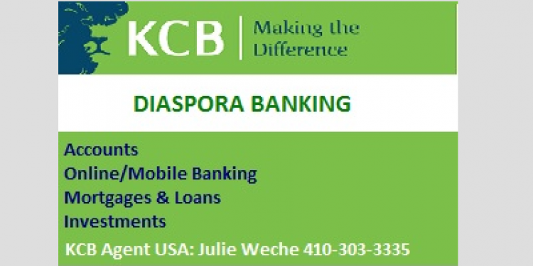 KCB Diaspora Banking Agent in Baltimore, Maryland