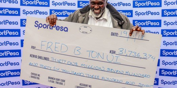 51-Year-Old Kenyan Man Wins Sh31 Million SportPesa Jackpot