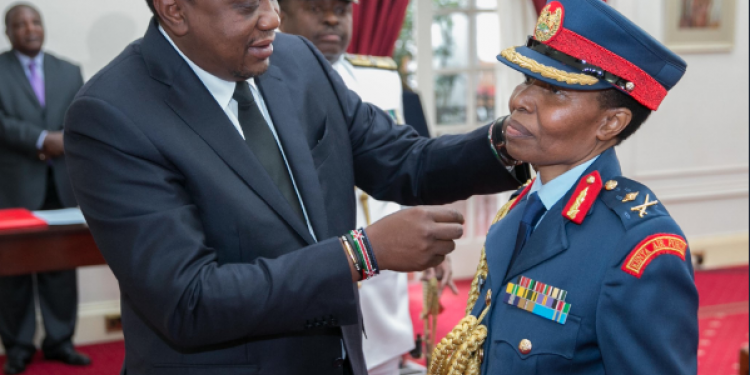 President Kenyatta Unveils Kenya's First Woman Major General, Fatuma Ahmed