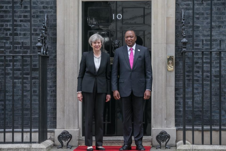 President Uhuru with UK Prime Minister Theresa May