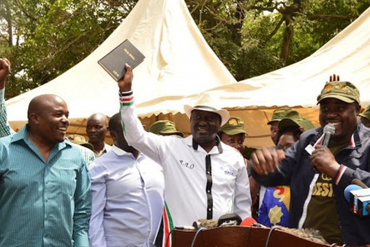 Kenyan Diaspora Group Sends Delegation to Raila's Swearing-in Ceremony