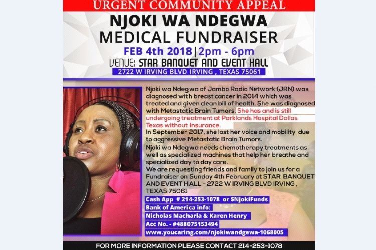 Urgent Appeal: Medical Fundraiser for Njoki wa Ndegwa of Jambo Radio Network (JRN)