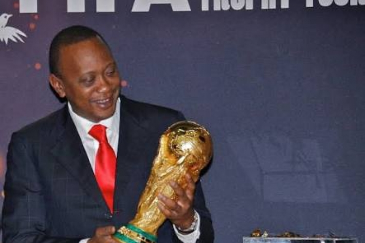 President Uhuru Receives FIFA World Cup Trophy in the Country, Kenyans to View It at KICC