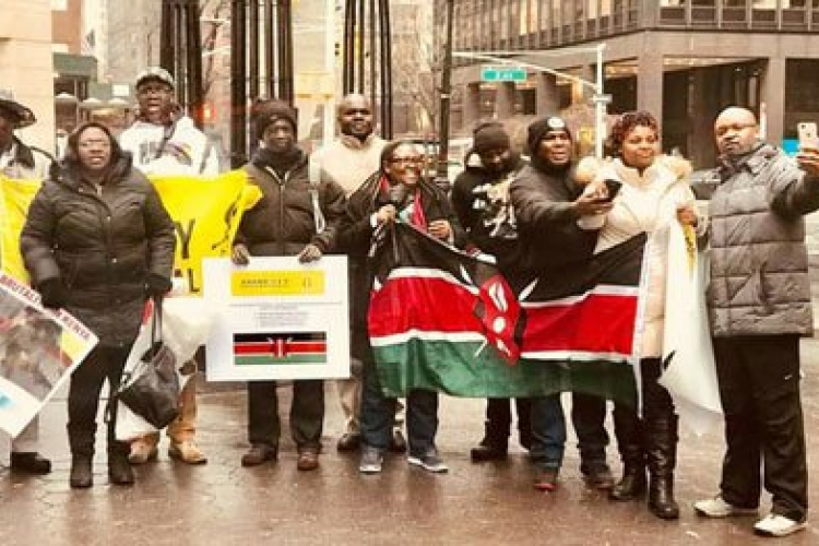Kenyans in the US Hold Demos Outside UN Headquarters in New York