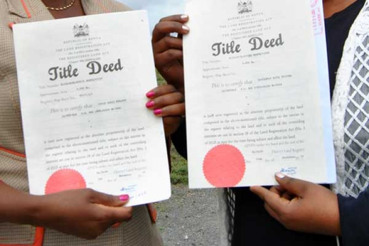 Gov't to Issue 50,000 Title Deeds to Nairobi Residents
