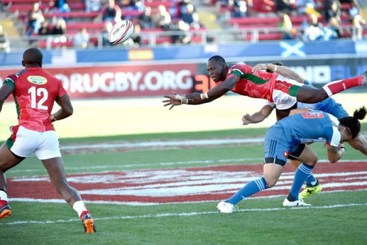 Kenya Qualifies for Main Cup Quarter Finals at the USA Sevens in Las Vegas