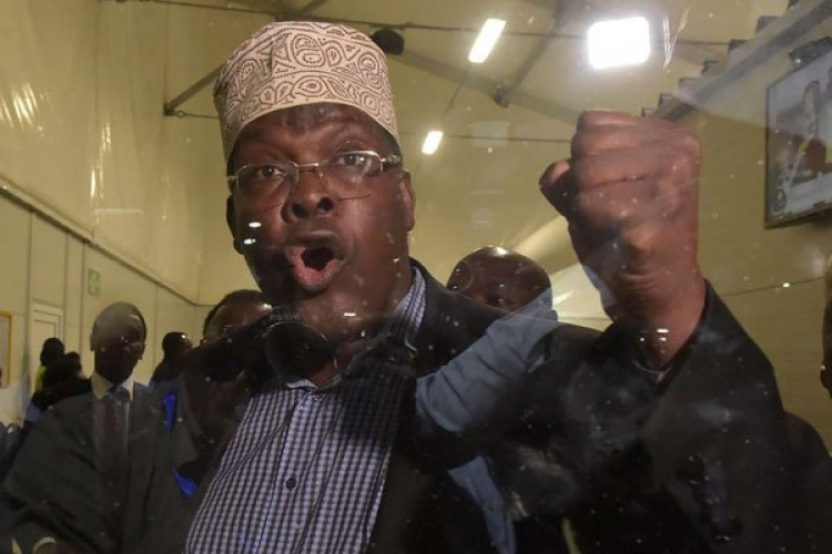 More Drama at JKIA as Miguna Miguna Tears Papers Meant to 'Regularize' His Citizenship