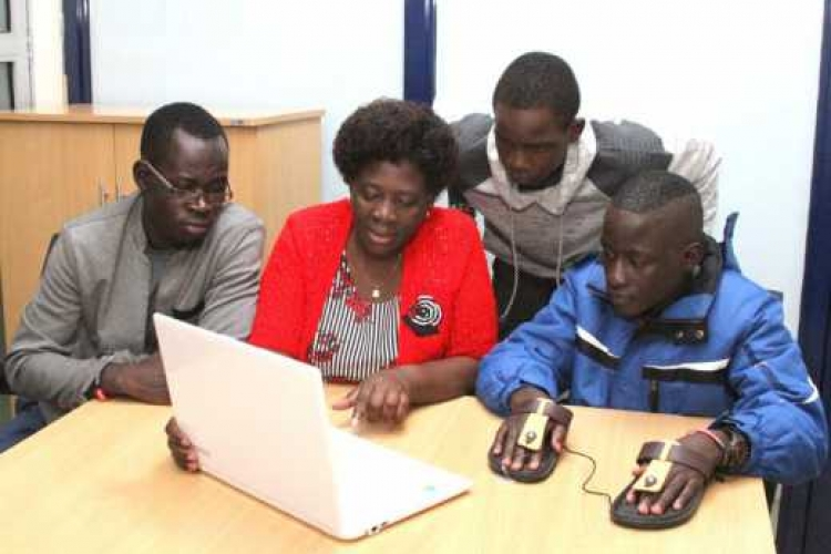 Two Kenyan Students Feted in the US for Developing a Customized Computer Mouse for Disabled