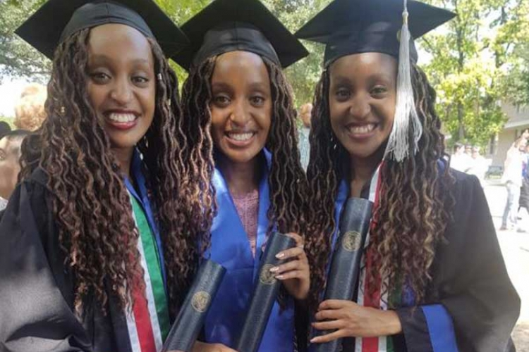 Kenya's Moipei Triplets Graduate with First Class Honors at St Mary's University in Texas