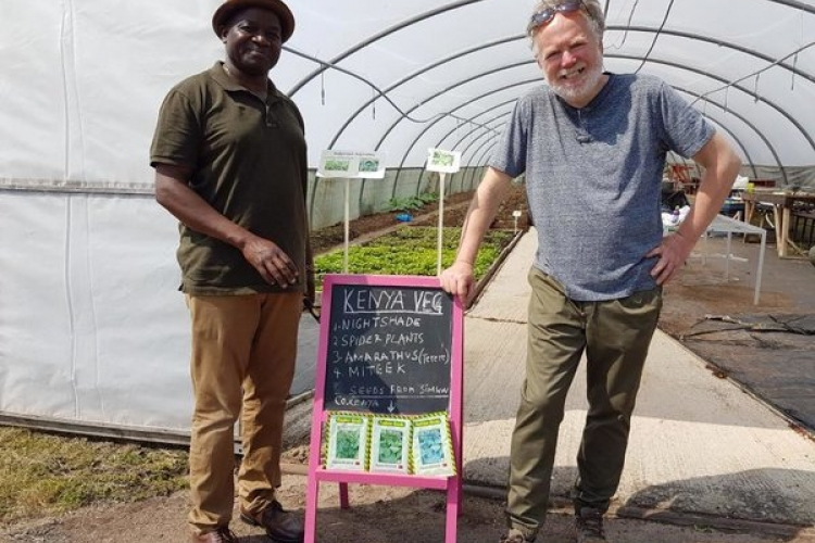 "Meet Kenyan Man Who Grows ""Managu"" and Other Kenyan Traditional Veggies in the UK"