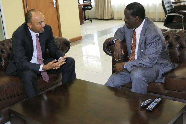 Raila Holds Meeting with Peter Kenneth in Nairobi