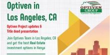 Optiven in Los Angeles October 20th to 26th, Presenting the Best Real Estate Investment Options in Kenya