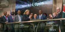 President Uhuru Rings the Bell to Open Shares Trading at London Stock Exchange