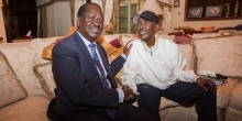 Raila Visits Frail-Looking Billionaire Businessman Chris Kirubi at His Home in Nairobi